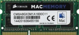 Corsair Mac Memory <CMSA8GX3M1A1600C11> DDR3 SODIMM 8Gb <PC3-12800> CL11 (for NoteBook)