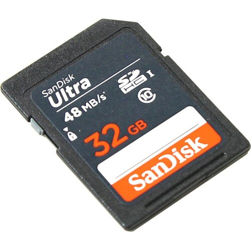 SDHC карта SanDisk Ultra SDSDUNB-032G-GN3IN 32 Гб UHS-I Class 1 (U1), Class 10